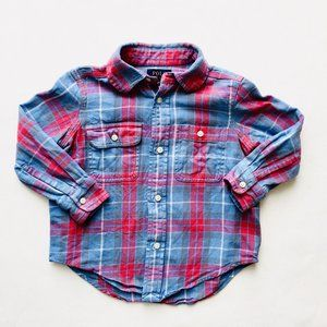 POLO by Ralph Lauren Blue/Red Plaid Button Down